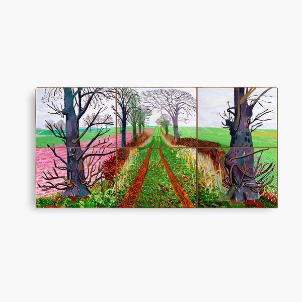 The arrival of Spring in Woldgate by David Hockney Canvas Print