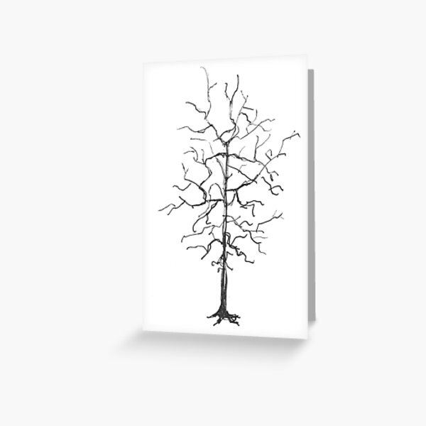 The Black Tree Greeting Card