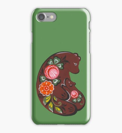 Mama bear and baby bear iPhone Case/Skin