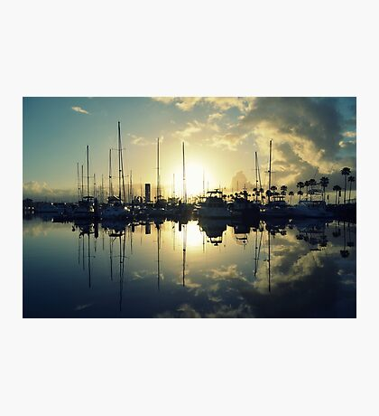 marina morning Photographic Print