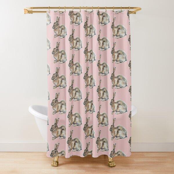 Bun One-line Shower Curtain
