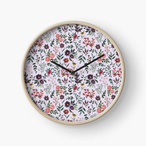 Bright Watercolor Flower - Purple Clock