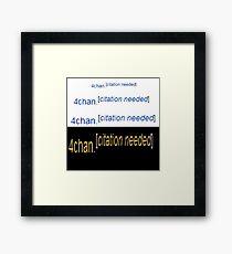 4Chan Framed Print