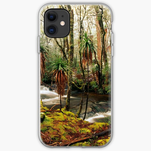 Pine Valley in winter iPhone Soft Case