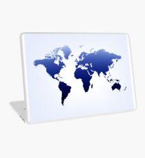 Blue & white  map Laptop Skin