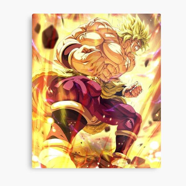 Broly super Saiyan berserk Dragonball super fanart 2021 Metal Print