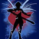 Super Smash Bros. Blue Male Corrin Silhouette by jewlecho