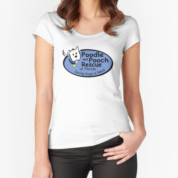 Poodle and Pooch Rescue of Florida - Full Color Logo Fitted Scoop T-Shirt