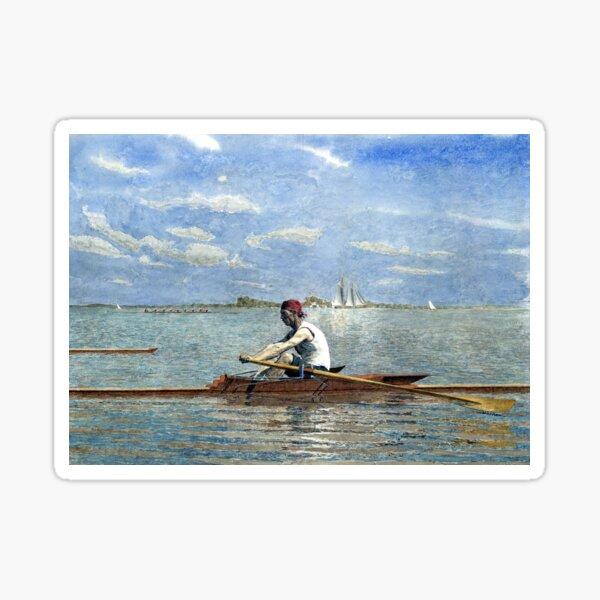 Thomas Eakins John Biglin in a Single Scull Sticker