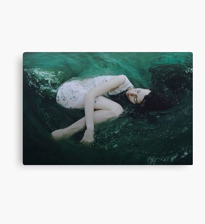 And the ocean loved her back Canvas Print