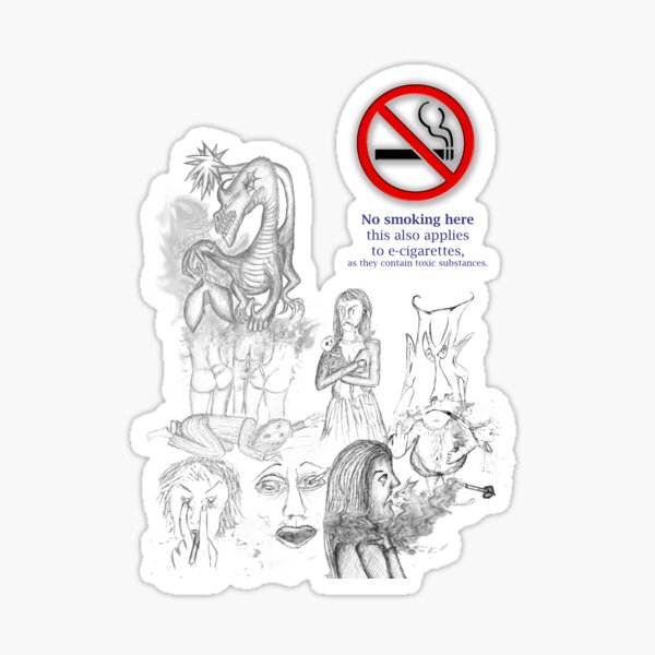 No smoking my eyes out Sticker