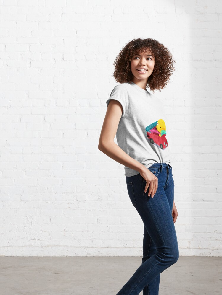 Alternate view of Miss Duck driving a car Classic T-Shirt