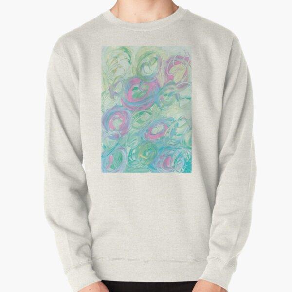 Tourbillon de vert et rose Sweatshirt épais