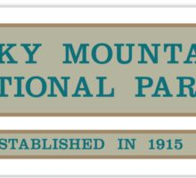 Rocky Mountain National Park Sign, Colorado, USA Sticker