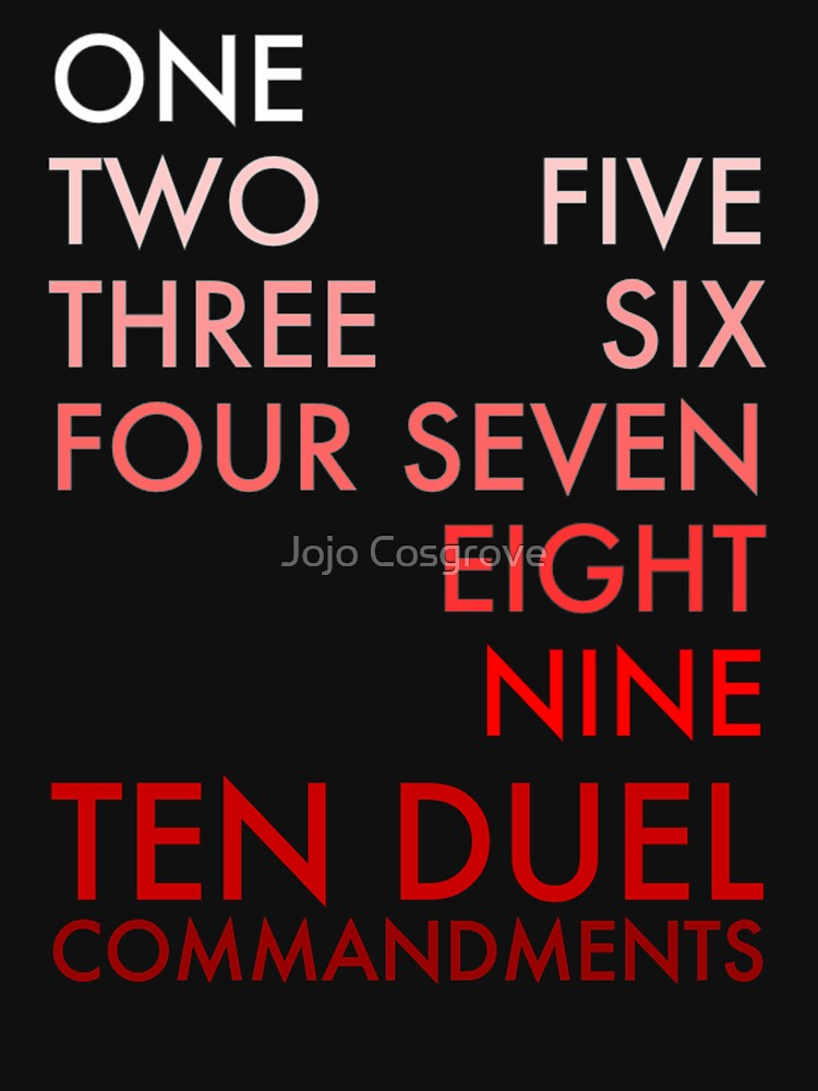 Musicals - Ten Duel Commandments by JGleeBieGomez