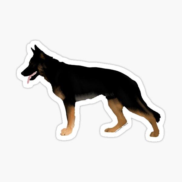 German Shepherd: Melanistic Tan & Black Sticker