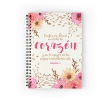 PROVERBIOS 3:5 Spiral Notebook