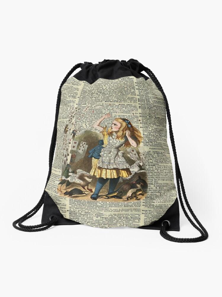 Alice Madness Returns Drawstring Backpack Sack Bag