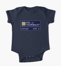 Col du Tourmalet, Road Sign, France One Piece - Short Sleeve