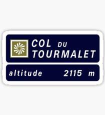 Col du Tourmalet, Road Sign, France Sticker