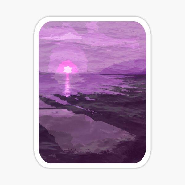 Purple Pittenweem Pool Sticker