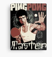 THE PING PONG MASTER Metal Print