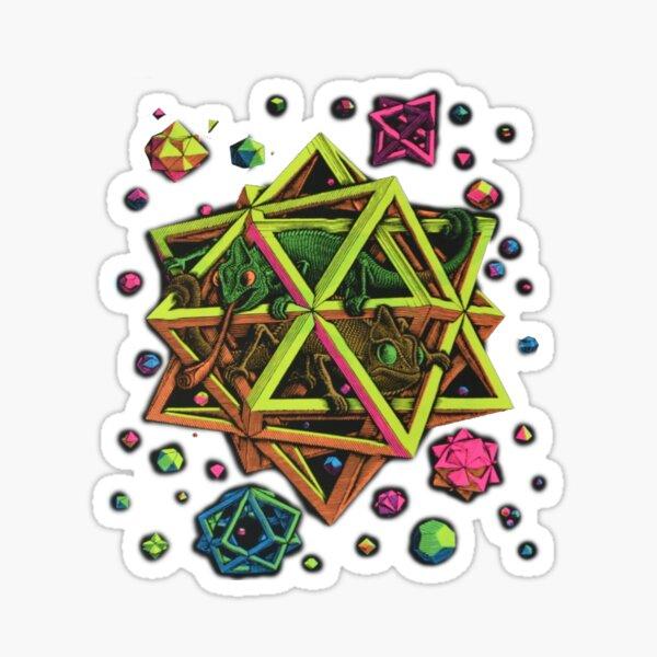 Escher - STARS... blacklight Sticker