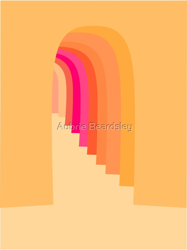 Doors Color Pink, Coral, Orange by AubrieBea