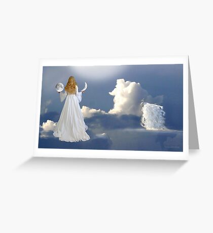 grant me a wish and I will offer you two moons... Greeting Card