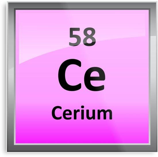 Cerium periodic table element symbol metal prints by sciencenotes cerium periodic table element symbol by sciencenotes urtaz Images