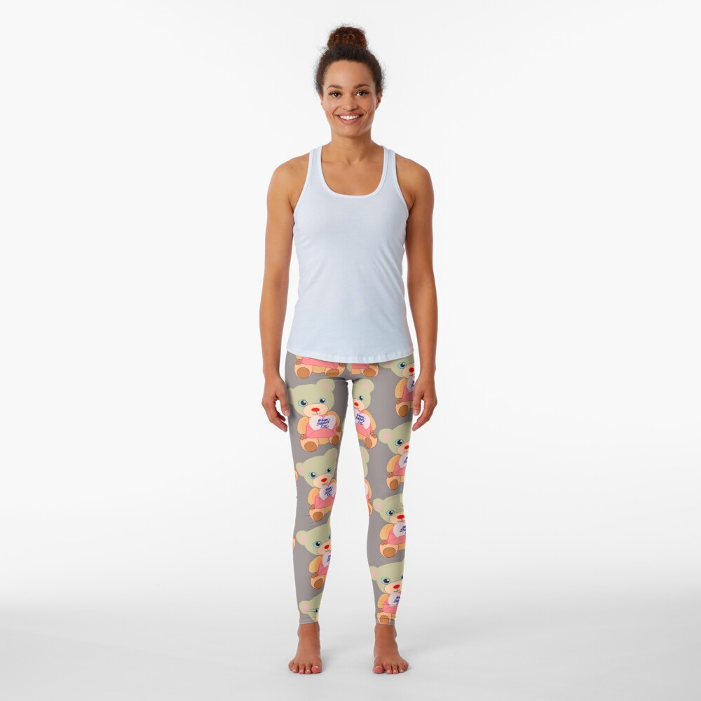 Teddy with mother's day message  Leggings