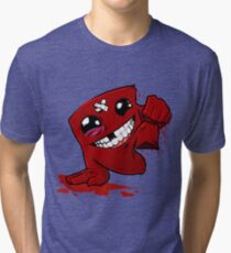 Happy Super Meat Boy Tri-blend T-Shirt