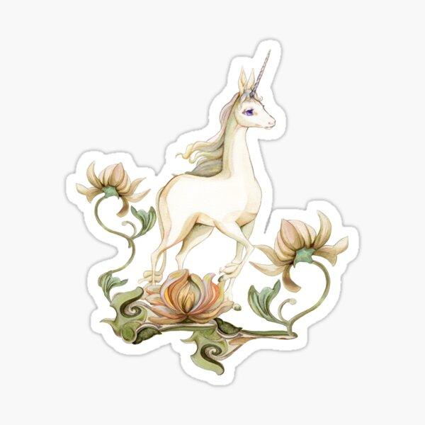 Last Unicorn - Flower Garden Sticker