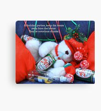 Holiday Party And Drunk Bear Canvas Print