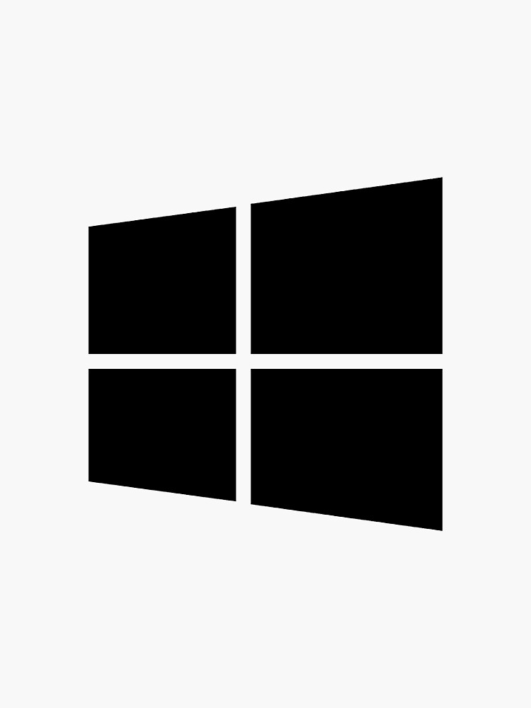 Simple Windows Logo Black & White Design 2 by iluvpizzas