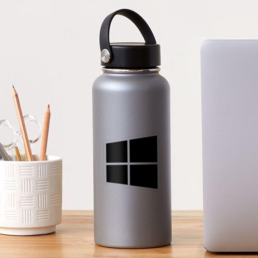 Simple Windows Logo Black & White Design 2 Sticker