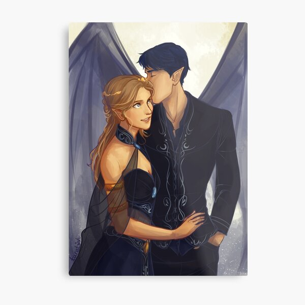 Feyre and Rhysand Metal Print