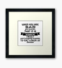 The Dementors' fault Framed Print