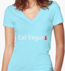 Eat Vegan(s) Women's Fitted V-Neck T-Shirt