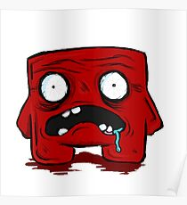 super meat boy drawing posters redbubble