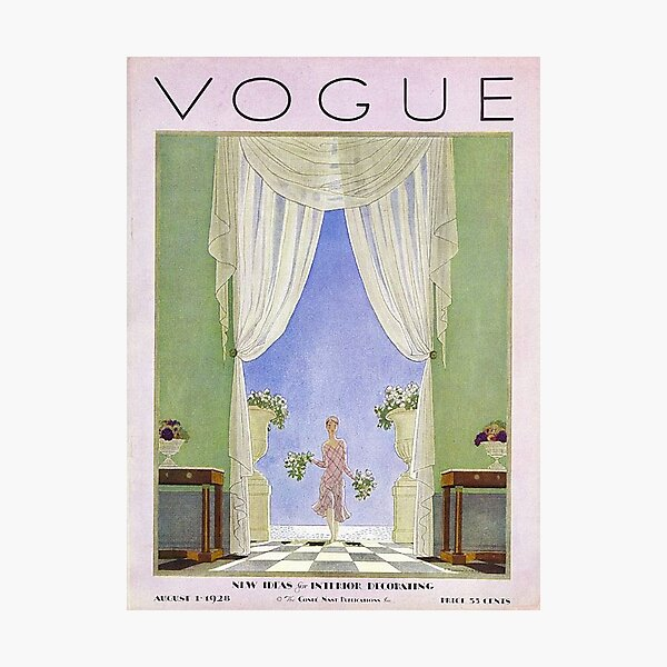 vogue vintage Photographic Print