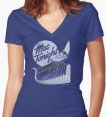 Mac Tonight Women's Fitted V-Neck T-Shirt