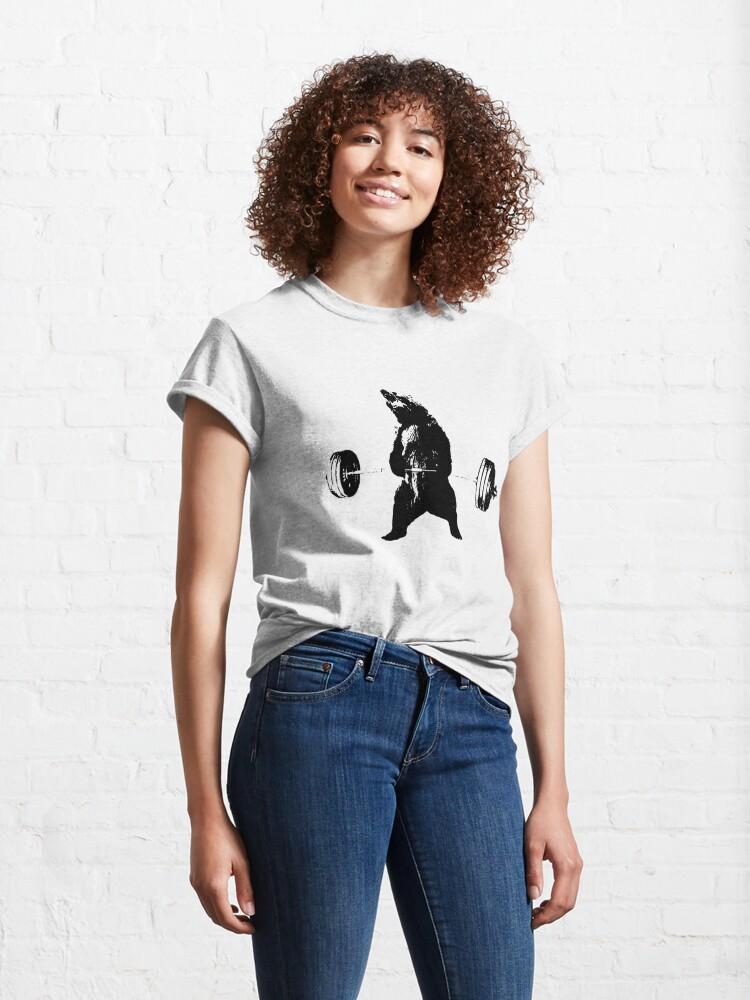 Alternate view of Deadlifting Bear Classic T-Shirt