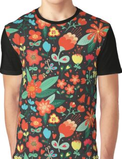 Flowers and hearts Graphic T-Shirt