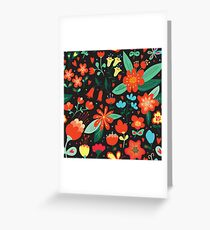 Flowers and hearts Greeting Card