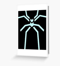 Stealth Spider Blue Greeting Card