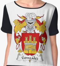 Gonzalez Coat of Arms/Family Crest Chiffon Top