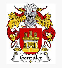 Gonzalez Coat of Arms/Family Crest Photographic Print