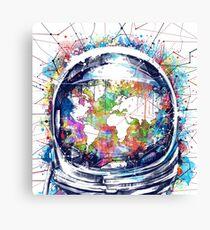 astronaut world map 3 Canvas Print