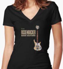 Enjoy Rickenbacker Bass Guitars Women's Fitted V-Neck T-Shirt